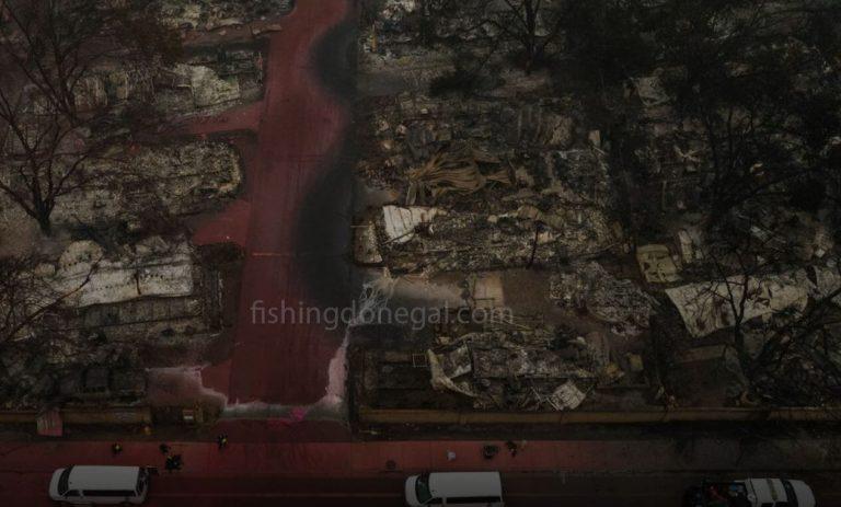เมืองในโอเรกอนถูกไฟไหม้เนื่องจาก ไฟป่า